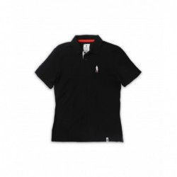 BLACK SHORT SLEEVE POLO...