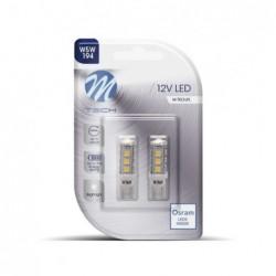 WHITE LED BULBS 12V W5W