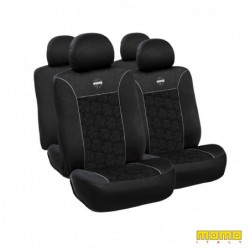 SEAT COVER MOMO 050 BLACK GRAY